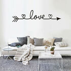 Living Room Bedroom Home Decor Wall Art Text Decals Love Arrow Wall Stickers