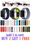 Silicone Nylon Strap Sports Band For Apple Watch Series 5 4 3 2 1 38/40/42/44mm image