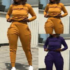 Women 2PCS Tracksuit  Long Sleeve Sweatshirt Pants Sets Sport Wear Jogging Suit
