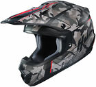 HJC Adult Red/Camo CS-MX 2 Sapir MC-1sf Dirt Bike Helmet