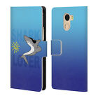 OFFICIAL GRACE ILLUSTRATION SHARKS LEATHER BOOK CASE FOR WILEYFOX & ESSENTIAL