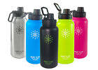 Smart Flask Stainless Steel Water Bottle Vacuum Insulated 32oz with Sports Lid