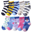 5Pack Cotton Lace Crew Socks Cartoon Animal/Rainbow/Unicorn/Fairy Girls Boys Kid