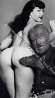 Vintage Bettie Page Wolfman Odd Strange Antique Photo Pic Freaky P3