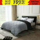 Goose Down Alternative Reversible Comforter Set Twin, Full/Queen or King Size image