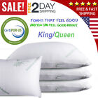 Bamboo Memory Foam Bed Pillow King/Queen Size and Reduces Snoring Made in USA  image