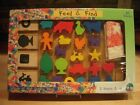 ADICA PONGO Feel and Find Wooden Shapes - 22 Matching Pieces + Bag : NIB