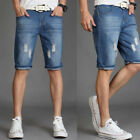 Hot Regular Summer Cotton Jeans Pants Mens Denim Shorts Stretch  Men's Denim