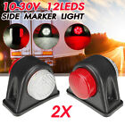 2 PCS 12 LED Side Marker Light For Trailer Truck Cars Boat Lorry Auto Assembly