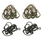 20x Zipper Pull Cord Rope End Lock Zip Puller Fastener for Clothing/Backpack