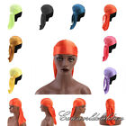 New Unisex Adult Durags Long Tail Bandanas Wrap Scarf Cap Hats Women Headwear