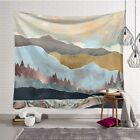 Tapestry Japanese Abstract Mountain Ocean Waves Wall Hanging Bedroom Décor TW