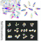 Crystal AB Clear Flatback Non Hotfix Rhinestones Glass Strass Beads for Nail Art