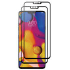 For LG V40 ThinQ V405QA7 FULL COVER Coverage Tempered Glass Screen Protector 9H