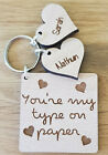 PERSONALISED LOVE ISLAND KEYRING FUNNY  UNIQUE CHRISTMAS GIFT ANNIVERSARY