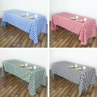 RECTANGULAR Checked Gingham Polyester Tablecloth Dinner Wedding Linens Party