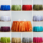 ROUND Pintuck Taffeta Fancy Tablecloth Dinner Wedding Party Buffet Table Linens