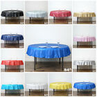 84 inch Round Disposable PLASTIC TABLE COVER Tablecloth Affordable Cheap Picnic