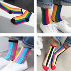 Rainbow Striped Patterned Short Socks Women Cool Cotton Funny Ankle Socks New