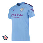 Puma Official Manchester City 2019-2020 Home Jersey Kit Sky Blue Man City MCFC