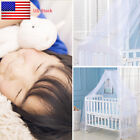 Kids Baby White Mosquito Net Netting Canopy for Nursery Crib Beds Cot Canopy US image