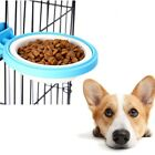 Pet Dog Puppy Plastic Hanging Food Water Cage Mounted Bowl Feeder Dispenser S/L