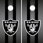Oakland Raiders Cornhole Wrap NFL Team Flag Game Skin Set Vinyl Decal CO106 on eBay