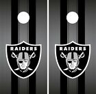 Oakland Raiders Cornhole Wrap NFL Team Flag Game Skin Set Vinyl Decal CO106 $39.95 USD on eBay