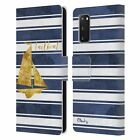 OFFICIAL PAUL BRENT NAUTICAL LEATHER BOOK WALLET CASE FOR SAMSUNG PHONES 1