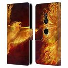 OFFICIAL TOM WOOD FIRE CREATURES LEATHER BOOK CASE FOR SONY PHONES 1