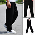 CHEF TROUSERS PLAIN BLACK CHEF PANTS UNIFORM UNISEX ELASTICATED WORK KITCHEN UK