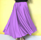 MEDIUM PURPLE Satin Full Circle Midi Skirt Belly Dance Club GYPSY Tribal Costume