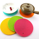 14cm Silicone Drink Cup Coasters Round Heat Resistant Mat Non-slip Pot Holder