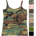 Womens Camo Cami Military Tank Top Slim Fit Lounge Tee Stretch Camisole Army