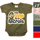 Camo Infant Bodysuit Toddler One Piece Baby Suit Bodysuit Army Romper Boys Girls