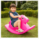 Smoothly Rounded High Seat Back Easy Grip Handles Kids Horse Rocker Magenta