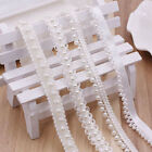 1 Yards White Pearl Beaded Lace Ribbon Applique Craft Lace Trim Tape Supplies
