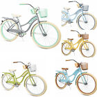 Womens Cruiser Bike Bicycle Ladies Coast Basket Comfort Huffy 5 Colors 26 Rack for sale  Shipping to Canada