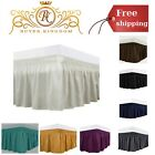 Easy Fit Wrap Around Bed Skirts Elastic Bed Ruffles Luxrious Fabric For Mattress image