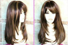 NEW1076  health new straight style long brown mix blonde hair wigs for women wig