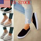 US Women Comfy Slip On Trainers Shoes Ladies Casual Soft Lazy Loafers Activewear