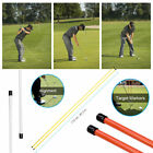 1 Pair Portable Golf Alignment Sticks Practice Exercice Rods Training Aid New
