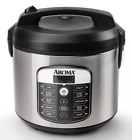Aroma 20 Cup Digital Multicooker & Rice Cooker - Stainless Steel, NOB LARGE DENT