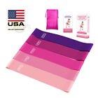 Resistance Loop Bands Set of 4/5 Exercise Workout Fitness Yoga Training Band image