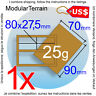 1x MDF MOVEMENT TRAY 2x1 1x2 27.5x80mm WARGAME TABLETOP GAME USD