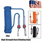 12mm * 20m High Strength Polyester Rope Outdoor Safety Rock Climbing Rescue Rope
