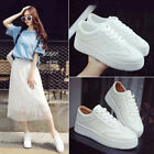 Lace Wild White Shoes Women Breathable Platform Sneakers Casual Fashion Flats
