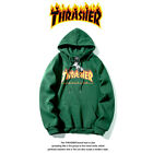 Thrasher Flame Men Women Printed Hoodie Sweatshirt Couple Long Sleeve Jacket New