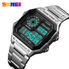 SKMEI Mens Sport Watches Casual Stainless Steel Strap Digital Wristwatches 1335 image