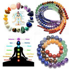 Healing Reiki 7 Chakras Yoga Natural Gemstone Round Beads 16 4mm 6mm 8mm 12mm
